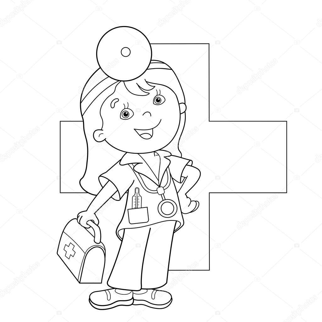 1024x1024 First Aid Coloring Pages