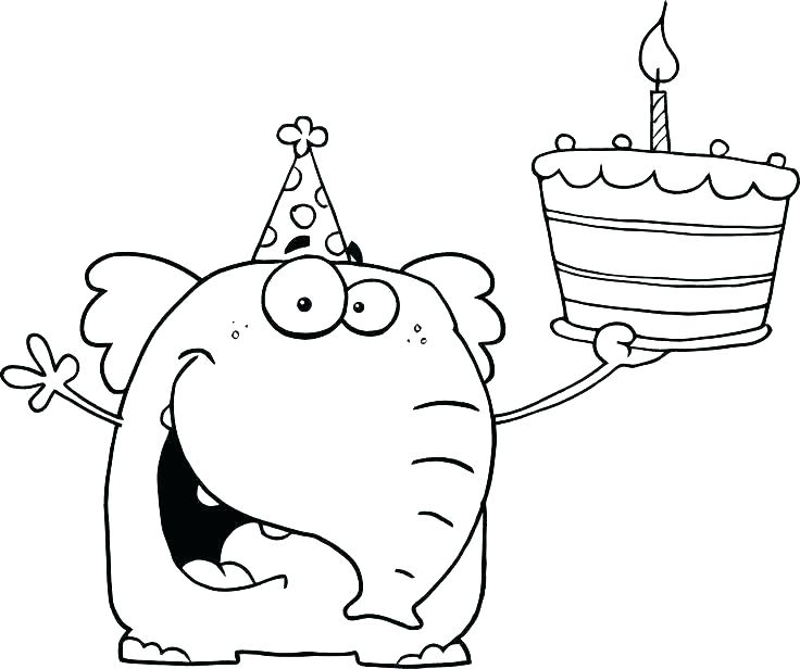First Birthday Coloring Pages