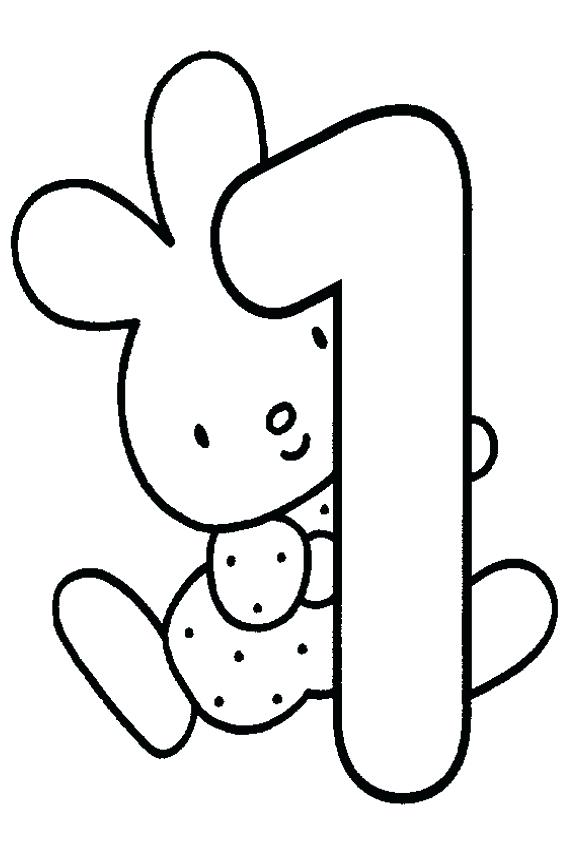 567x850 Birthday Coloring Page First Birthday With First Birthday Coloring