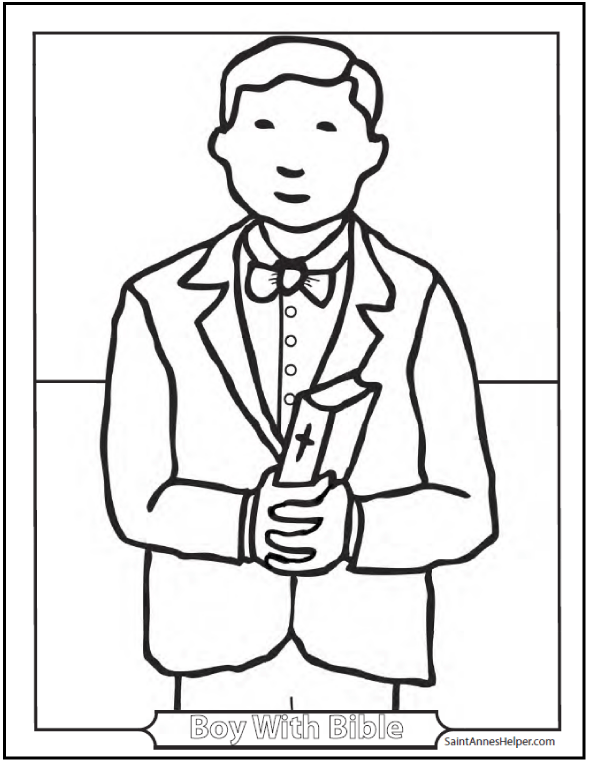 First Communion Coloring Pages