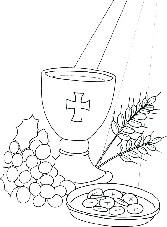 533x724 Communion Coloring Pages Printable Printable Coloring Communion