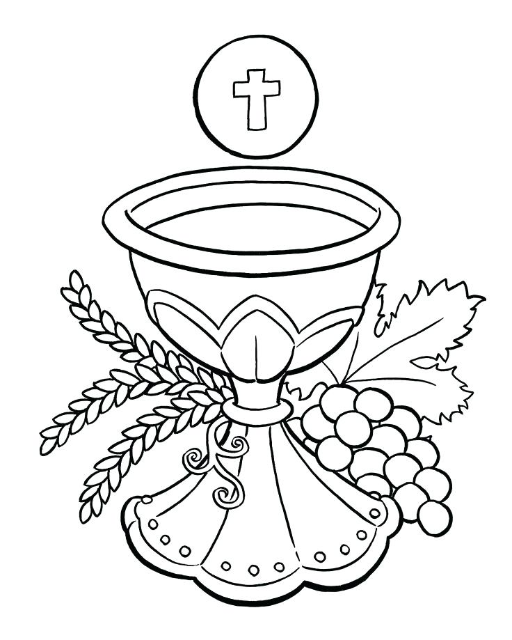736x919 Eucharist Coloring Pages Coloring Pages Catholic First Communion