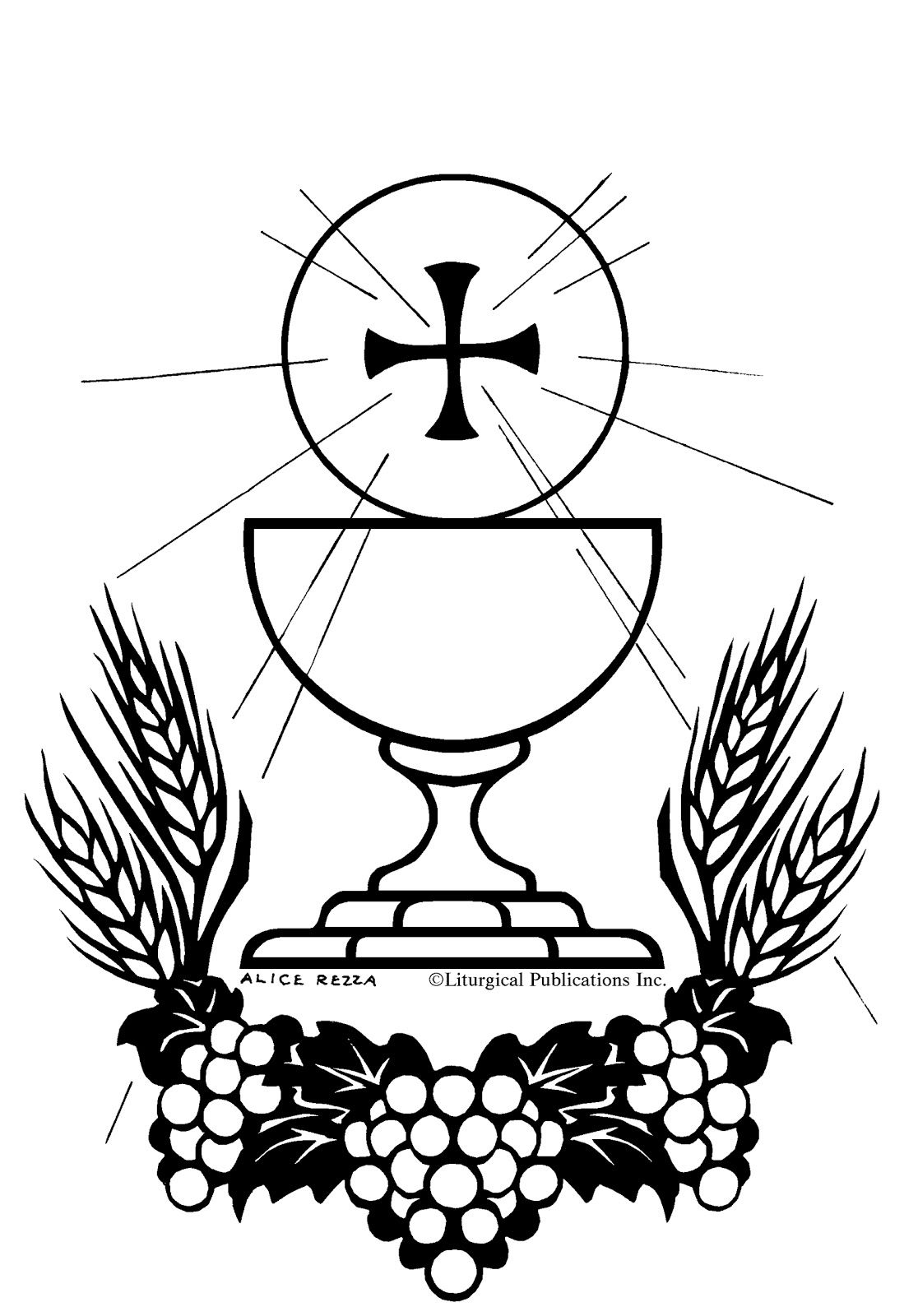 1116x1600 First Holy Communion Coloring Pages