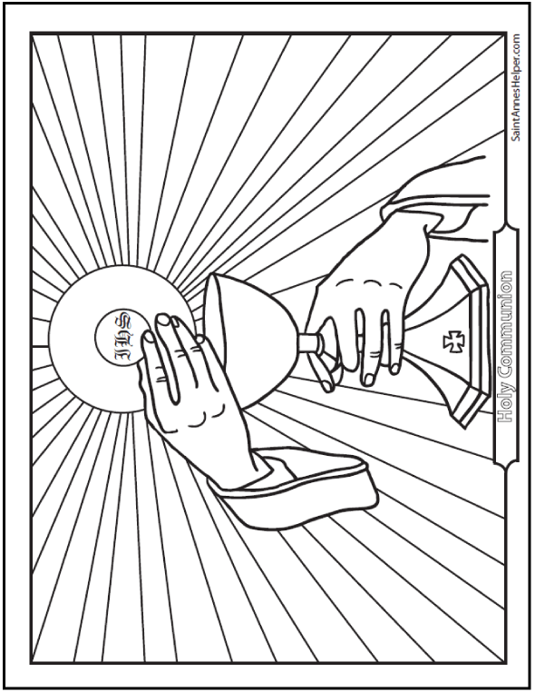 590x762 Holy Communion Coloring Page