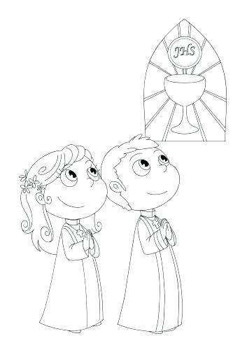 353x500 My First Communion Coloring Page First Communion My