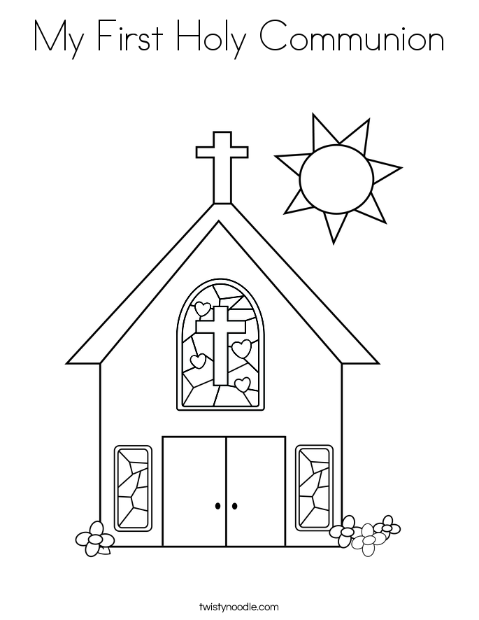 685x886 My First Holy Communion Coloring Page