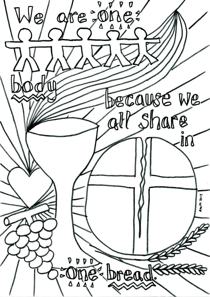 736x1041 Communion Coloring Pages Communion Coloring Pages First Communion