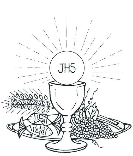 510x599 Communion Coloring Pages Free Printable First Communion Coloring