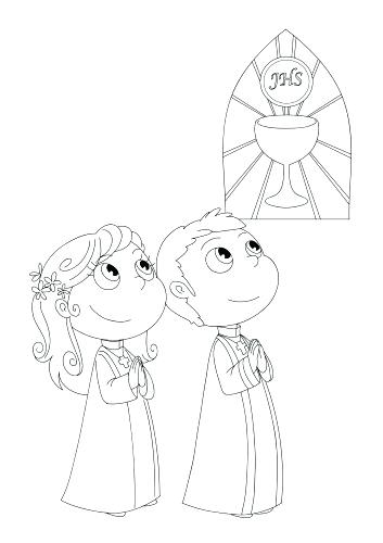 First Communion Coloring Pages Printable At Getdrawings Free Download