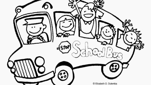 585x329 First Day Of School Coloring Page With First Day Of School
