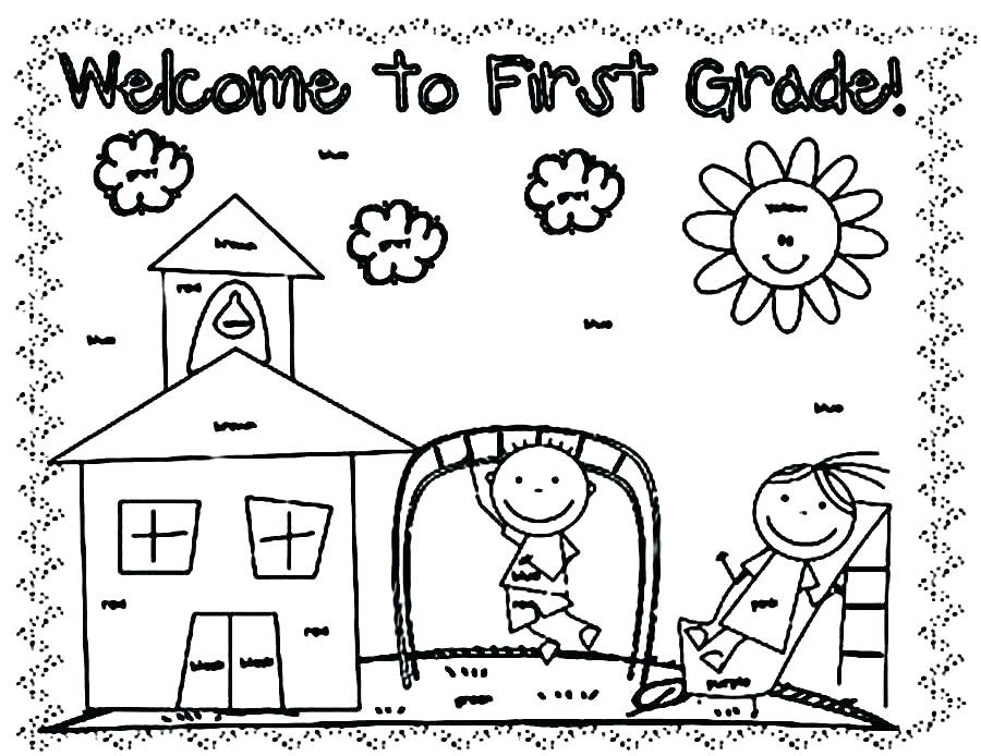 900x694 First Day Of School Coloring Page First Day Of School Sign