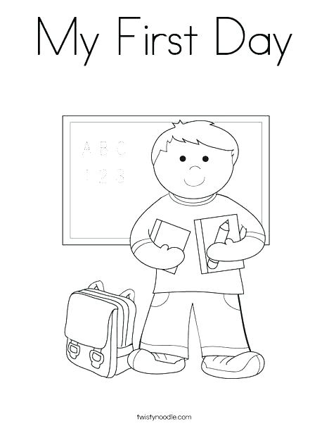468x605 First Day Of School Coloring Pages First Day Of School Coloring