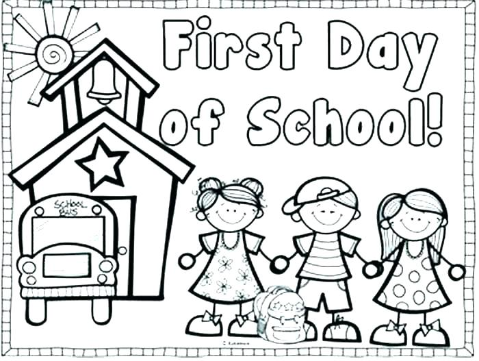 700x527 First Day Of School Coloring Pages For Kindergarten Wallpaper