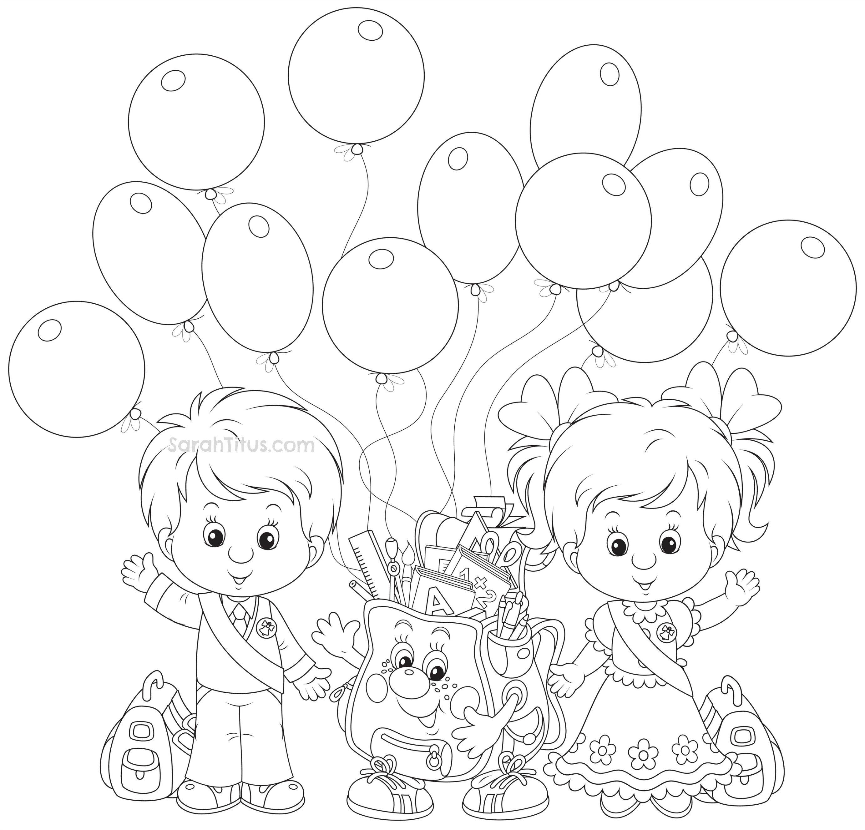 2766x2654 First Day Of School Coloring Pages For Kindergarten Download