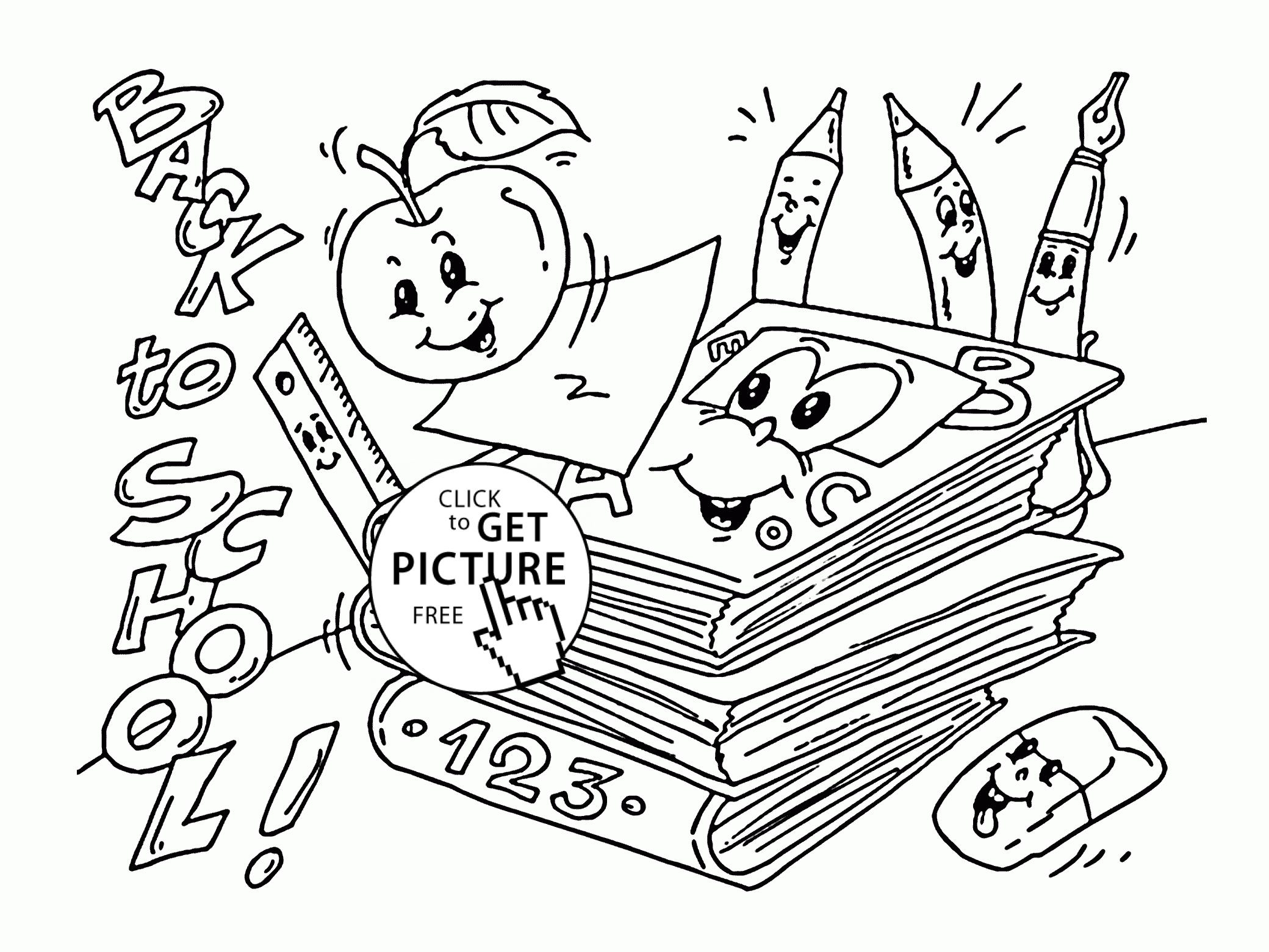 2080x1561 Fresh Coloring Sheet For First Day Kindergarten