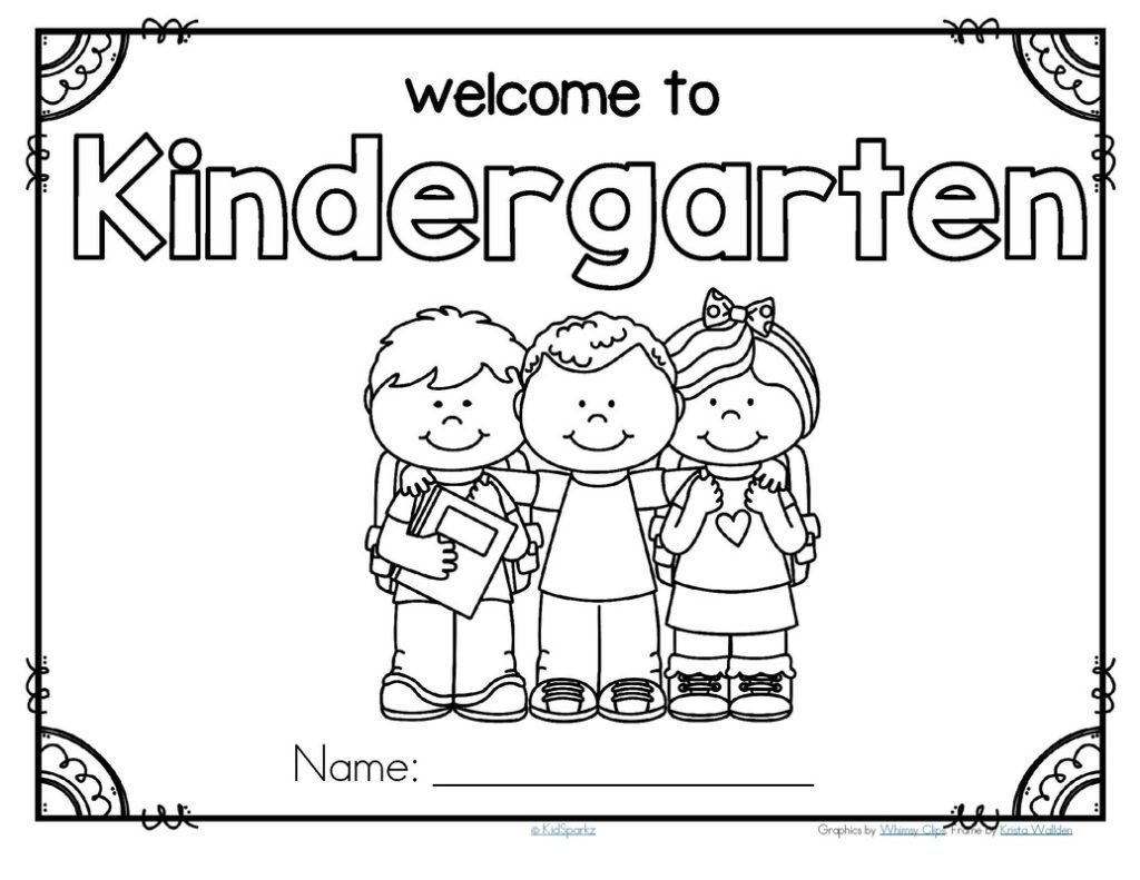 1024x791 Rare First Day Of Kindergarten Coloring Page Pages School