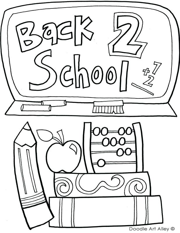 618x800 First Day Of Kindergarten Coloring Page