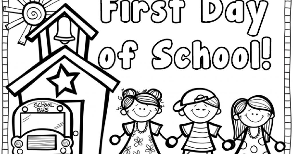 1024x538 Creative Decoration First Day Of School Coloring Pages First Day