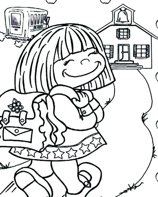 600x745 Days School Coloring Pages First Day School Coloring Days