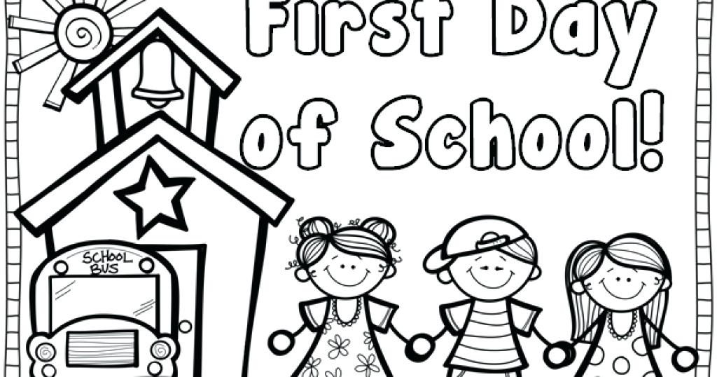 1024x538 First Day Of Kindergarten Coloring Page