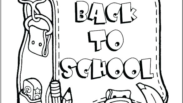 585x329 First Day Of Preschool Coloring Pages Welcome To Kindergarten