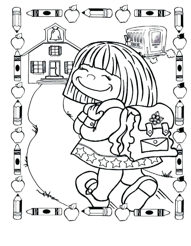 619x800 First Day Of School Coloring Sheets Back To School Worksheets