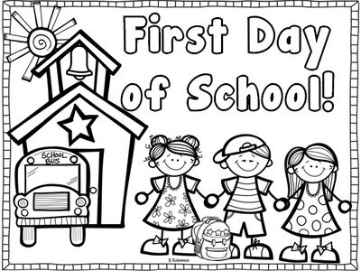 400x300 First Day Of School Coloring Pages For Kindergarten Epic First Day