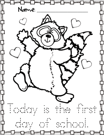 417x541 Kissing Hand Activities Free Chester The Raccoon Coloring Page
