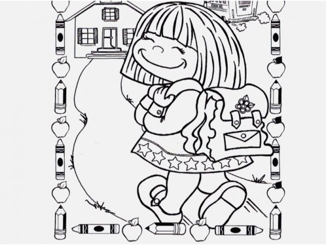 First Day Of School Coloring Pages at GetDrawings.com | Free for ...