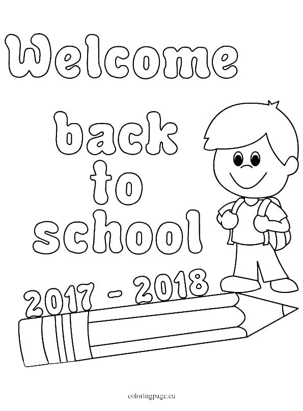 First Day Of School Coloring Pages For Kindergarten At GetDrawings Free  Download