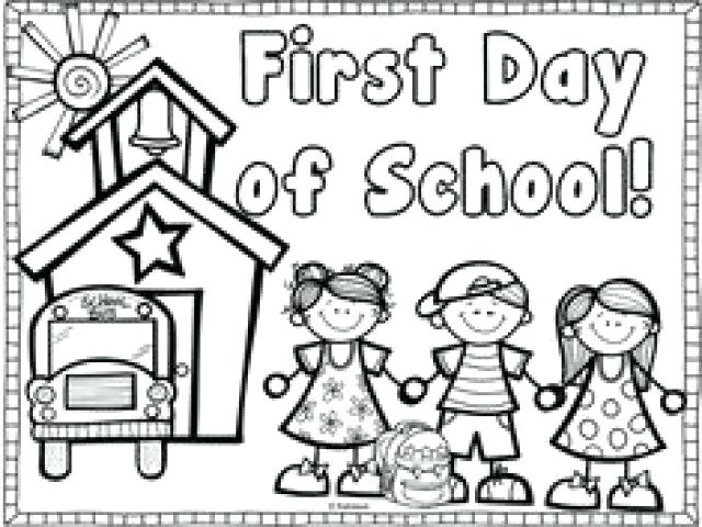 First Day Of School Coloring Pages For Preschoolers At GetDrawings Free  Download
