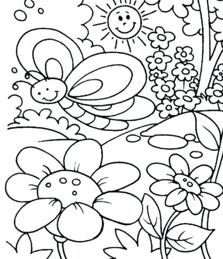 First Day Of Spring Coloring Pages