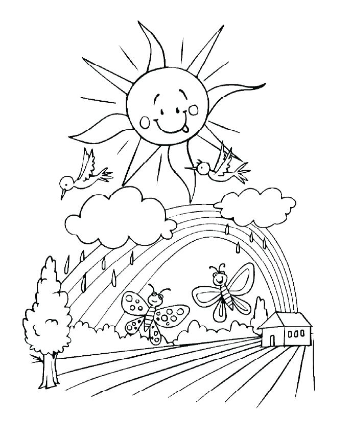 689x851 Kids Spring Coloring Pages Kids Spring Coloring Pages Places