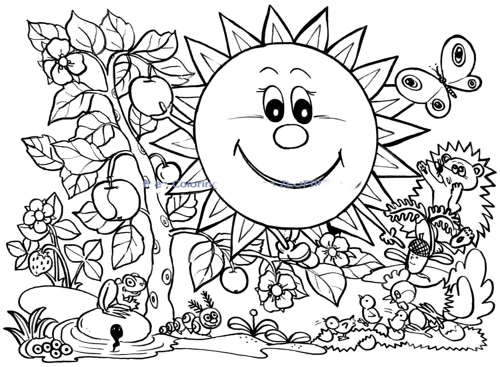 2000x1470 New Spring Coloring Pages Free