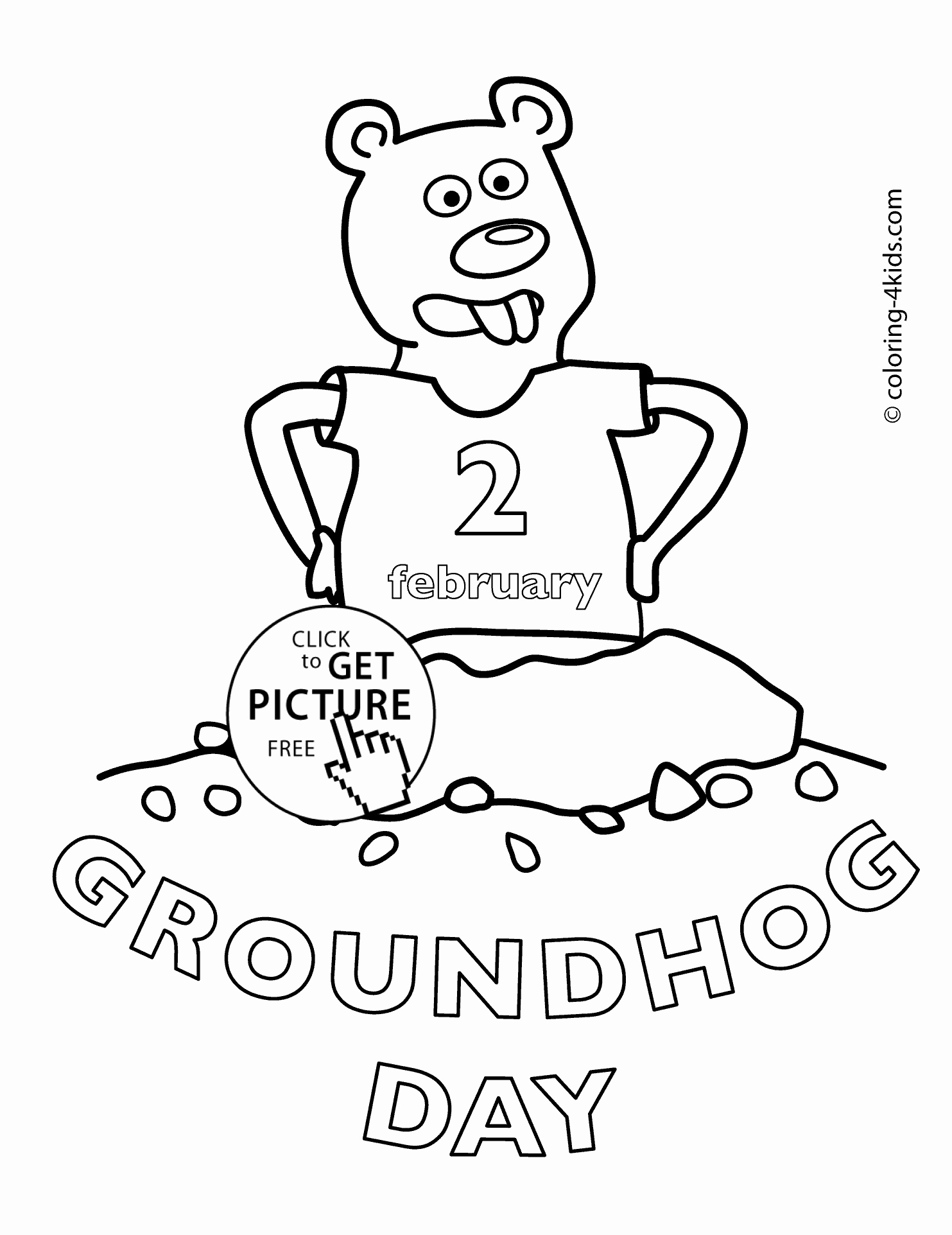 1483x1923 Printable Spring Coloring Pages Fresh Happy Groundhog Day Coloring