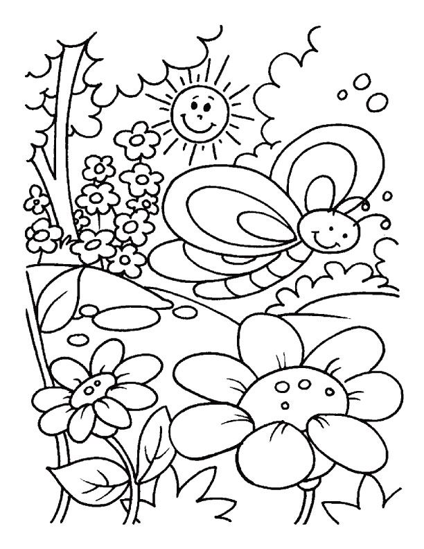 612x792 Spring Coloring Page