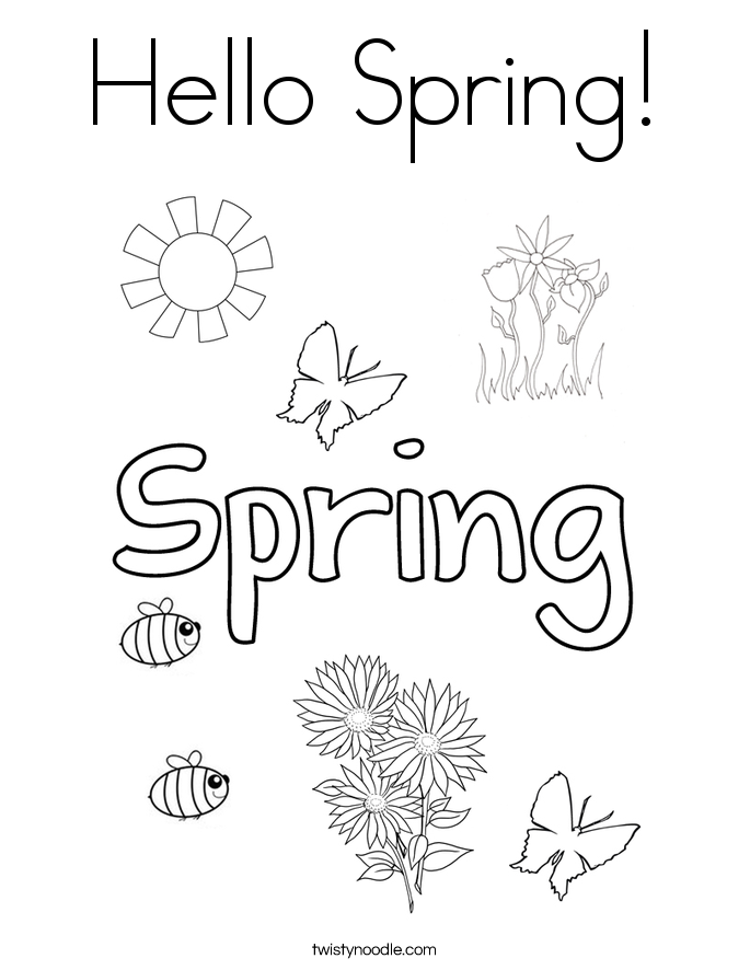 685x886 Spring Coloring Pages