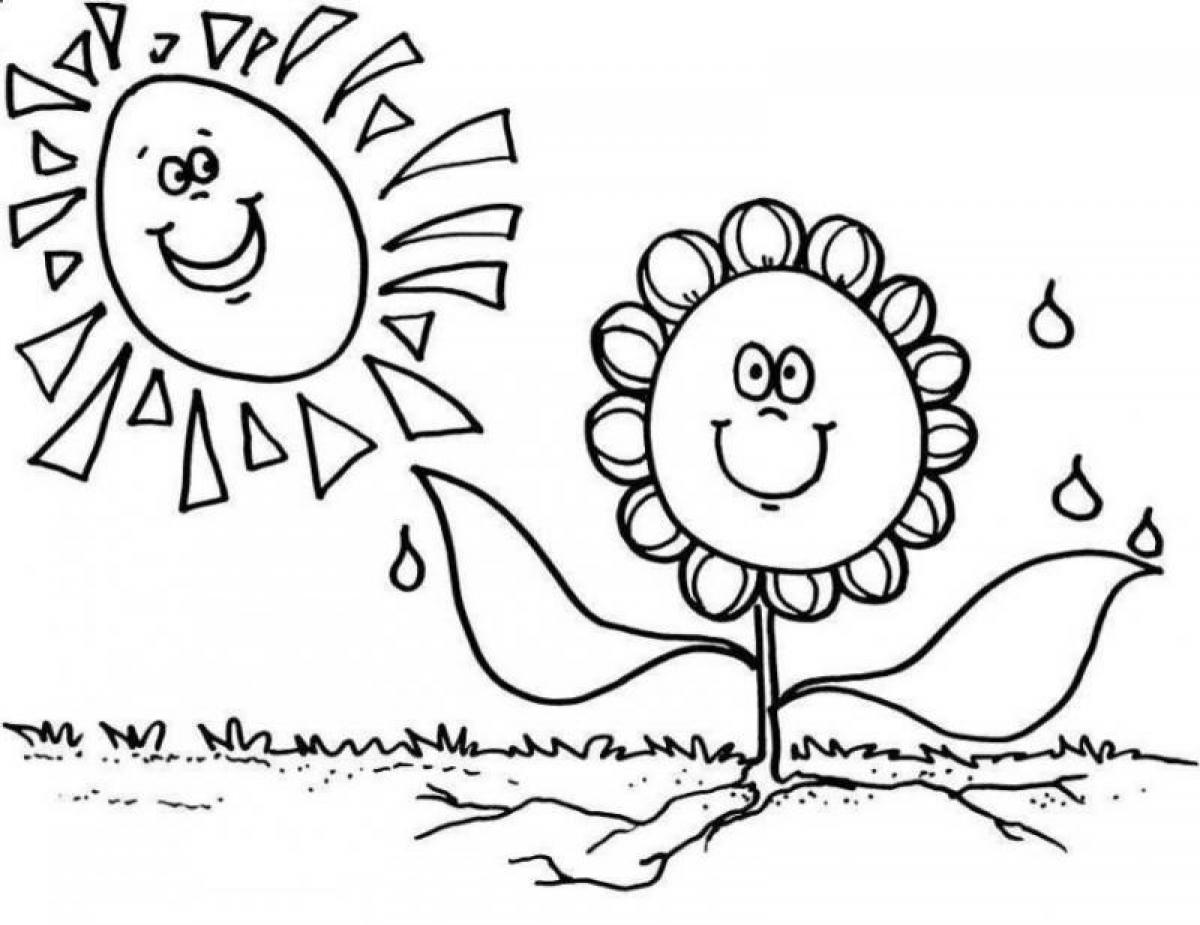 1200x925 Spring Coloring Pages