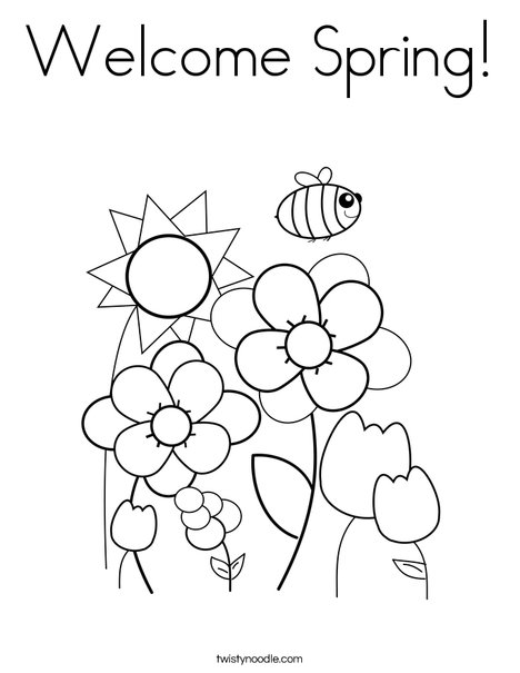 468x605 Welcome Spring Coloring Page