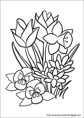286x400 First Day Of Spring Coloring Pages Flowers