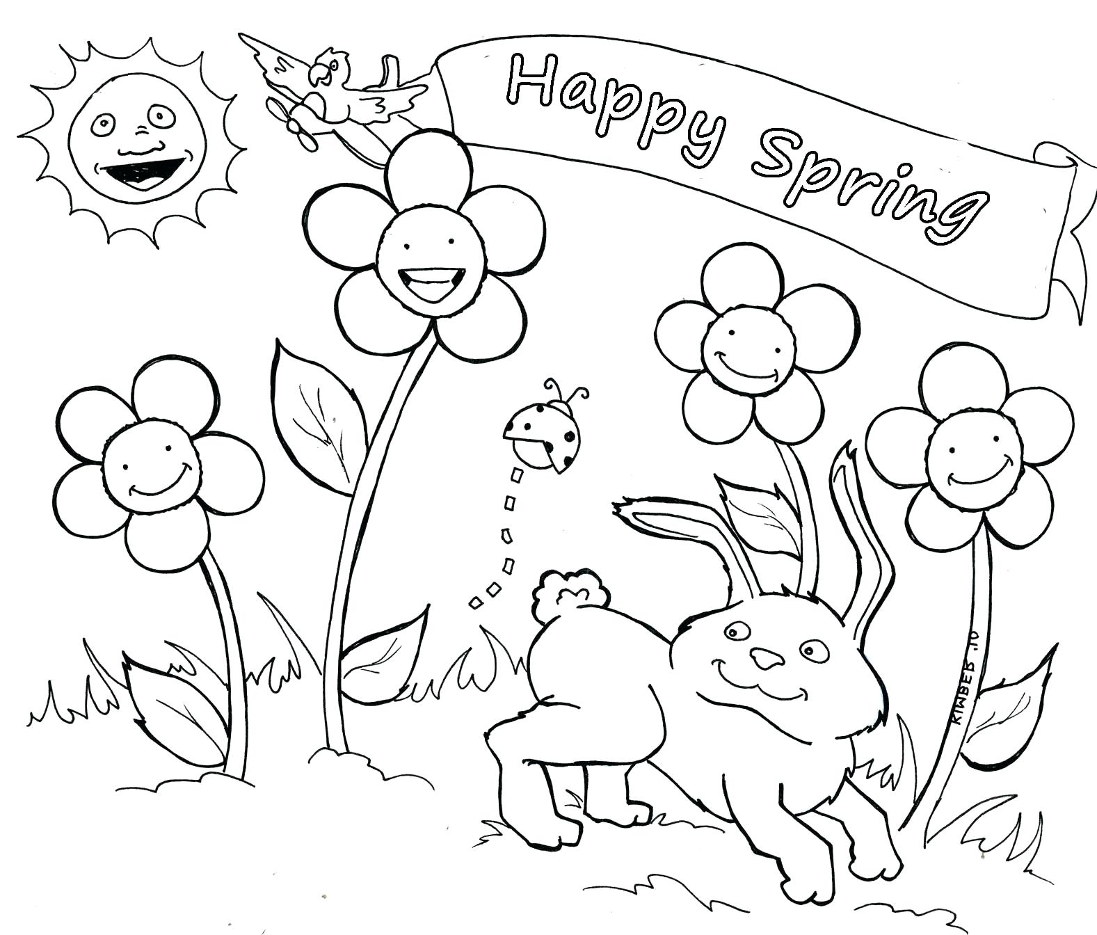 1577x1344 Fresh Coloring Happy Spring Coloring Pages