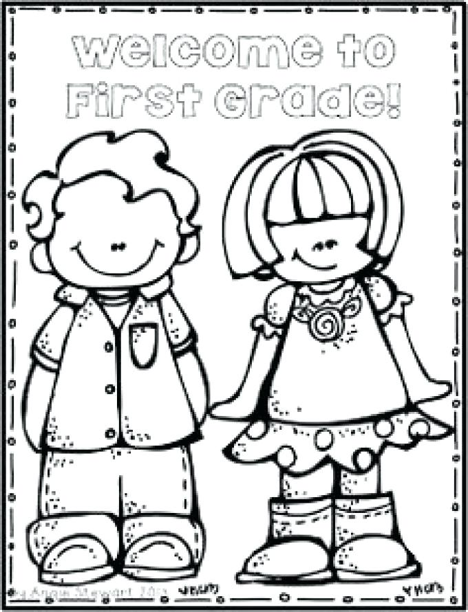 680x890 Welcome To First Grade Coloring Page Printable In Amusing Image