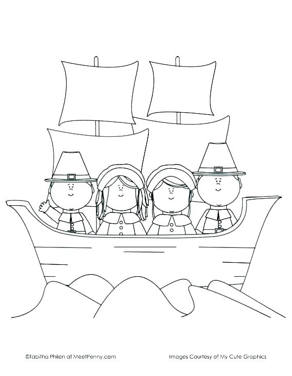 First Thanksgiving Coloring Pages