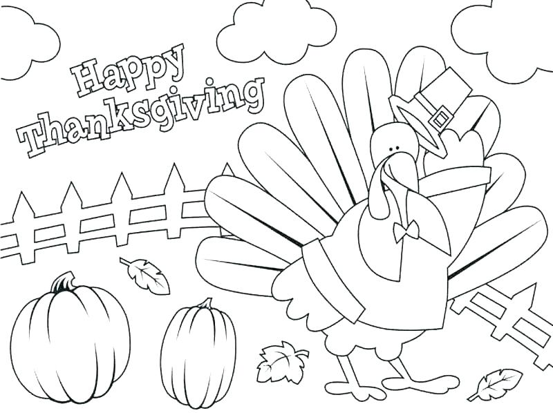 800x598 Thanksgiving Feast Coloring Pages Dinner First