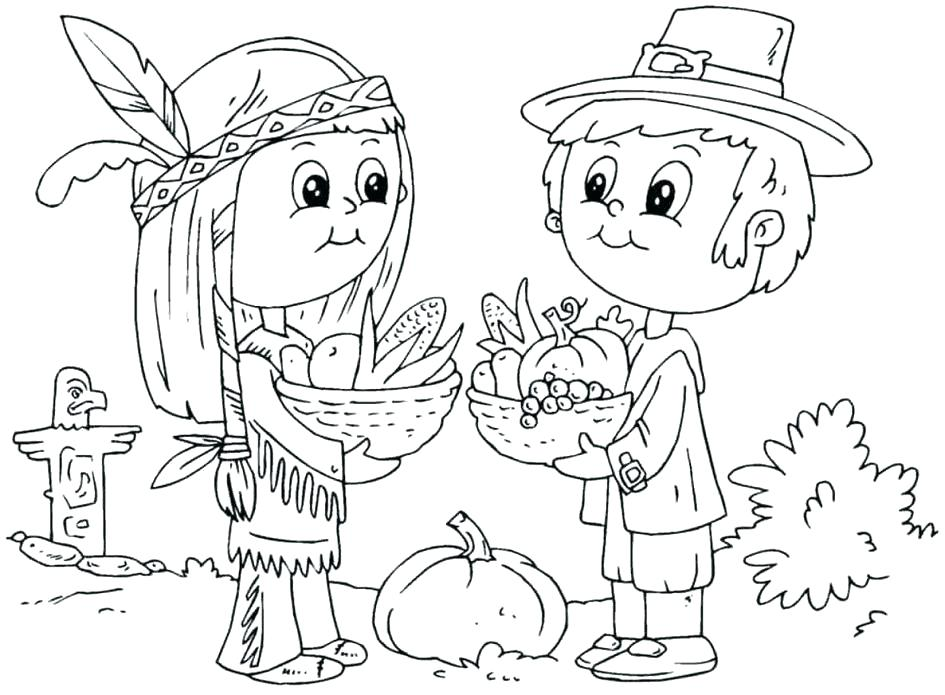 945x695 Thanksgiving Feast Coloring Pages Thanksgiving Feast Coloring