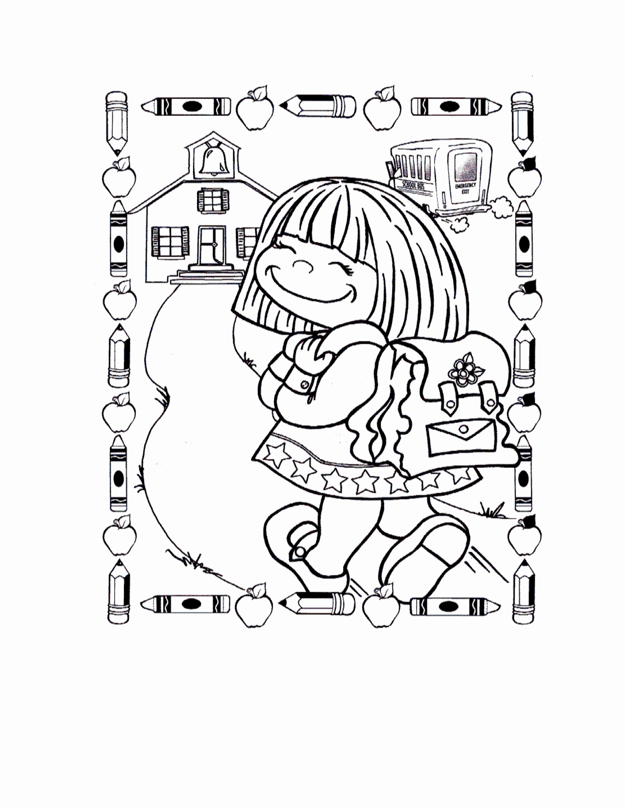 1275x1650 Free Back To School Coloring Pages Beautiful First Day Of School