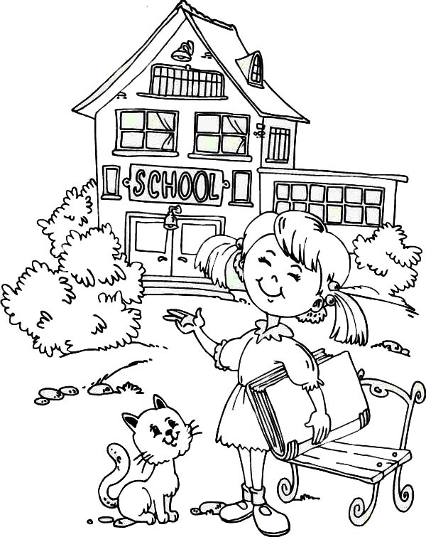 600x755 Going Back To School Coloring Page