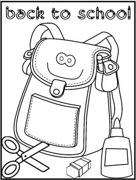 266x350 Back To School Coloring Page