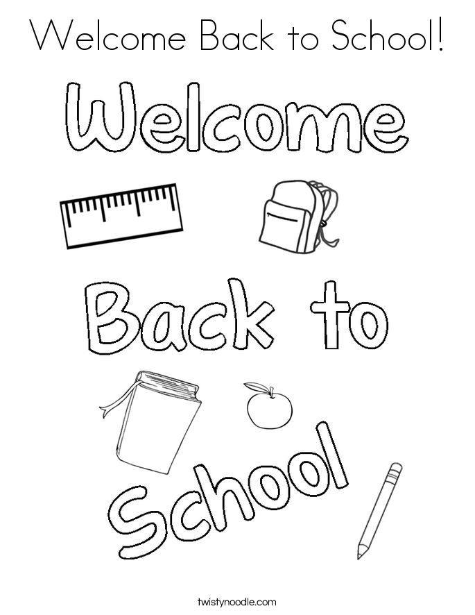 685x886 Welcome Back To School Coloring Pages Download