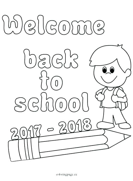 508x690 Welcome Coloring Page Welcome Back To School Coloring Sheets